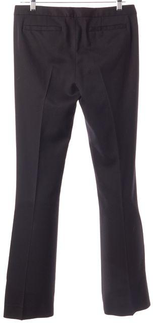 A.L.C. Black Wool Knit Casual Flare Leg Boot Cut Career Dress Pants