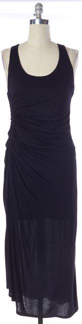 A.L.C. Navy Blue Gathered Side Sleeveless Maxi Dress