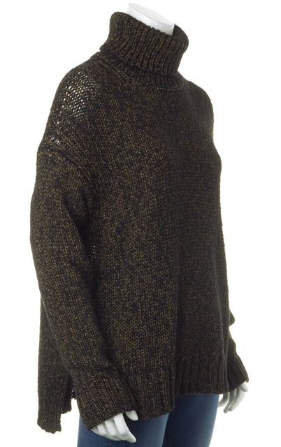 A.L.C. Black Gold Wool Turtleneck Sweater