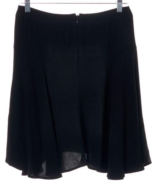 A.L.C. Black Asymmetrical Hem Ruffle Flare Casual Knee Length Dress Skirt
