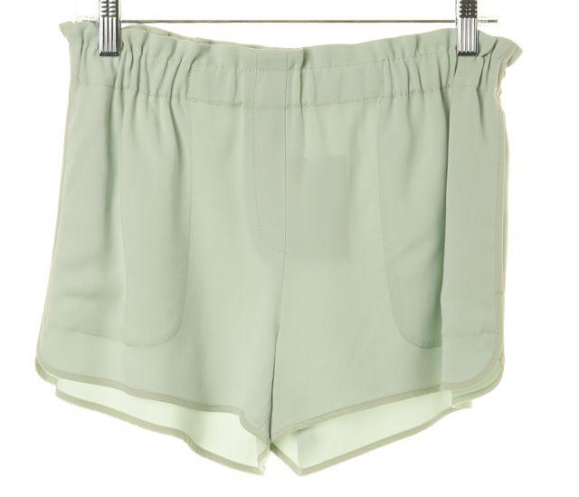A.L.C. Mint Green Elastic Waist Summer Casual Shorts