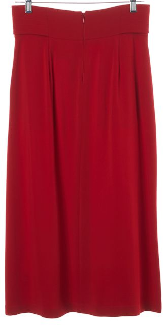 A.L.C. Red Belted Back Zipped 2 Pocket A-Line Skirt