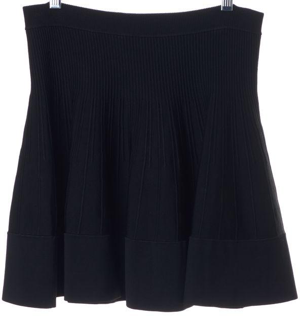 A.L.C. Black Stretch Knit Fit Flare Mini Skirt