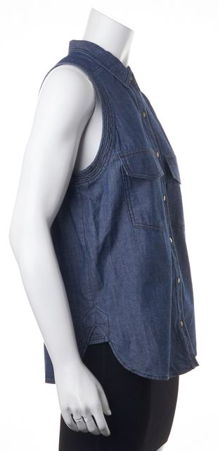A.L.C. Blue Denim Button Down Shirt