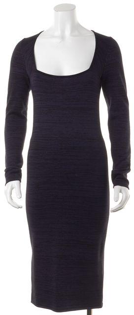 A.L.C. Navy Blue Black Sheath Square Neck Dress