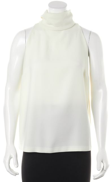 A.L.C. Ivory Turtleneck Halter Relaxed Summer Blouse Top