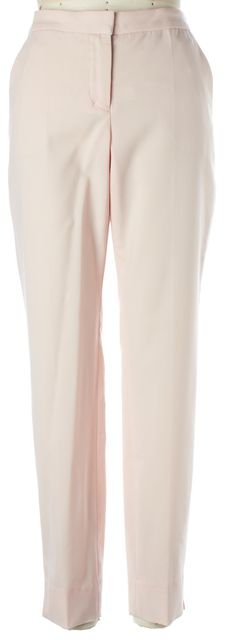 A.L.C. Pink Wool Pleated Trouser Dress Pants