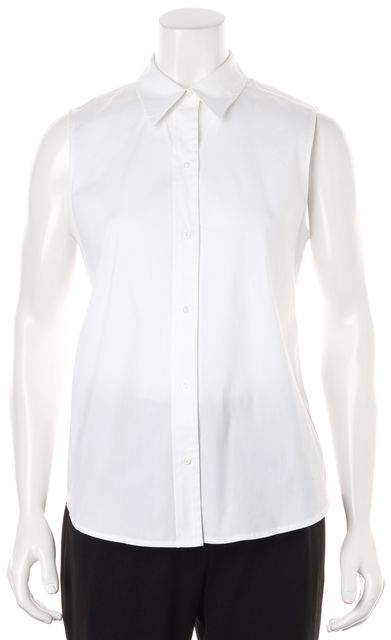 A.L.C. White Sleeveless Button Down Shirt