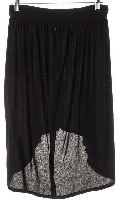 A.L.C. Black Viscose Asymmetrical Hem Skirt