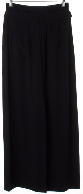 A.L.C. Black Solid Middle Slit Straight Full-Length Maxi Skirt