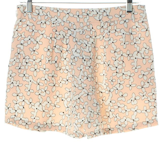A.L.C. Pink White Floral Blossom Print Crepe Silk Dress Shorts