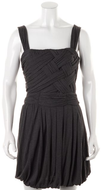 A.L.C. Gray Draped Jersey Above Knee Sleeveless Stretch Dress