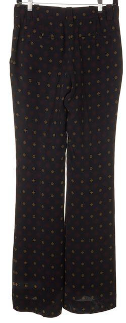 A.L.C. Black Red Yellow Geometric Silk Trouser Dress Pants