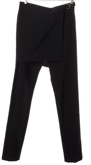 A.L.C. Black Wool Elizabeth Skirt Effect Trouser Dress Pants