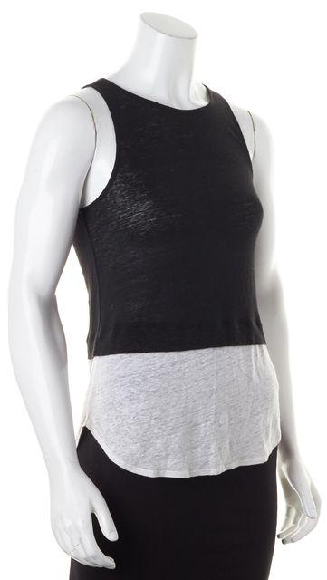 A.L.C. Black Ivory Linen Knit Top