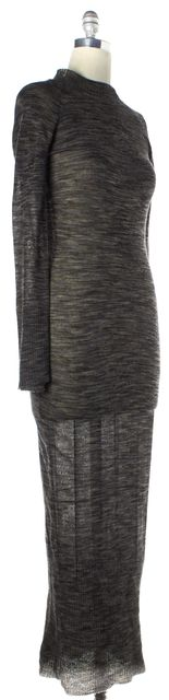 A.L.C. Gray Multi-Color Marled Long Sleeve Sweater Dress