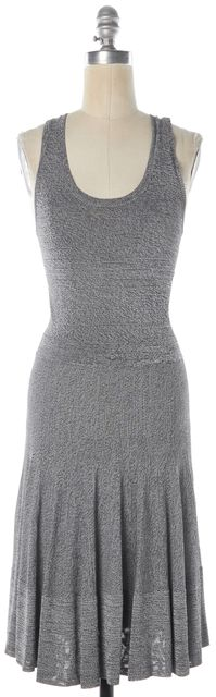 A.L.C. Heather Gray Knit Sleeveless Racerback Fit & Flare Dress