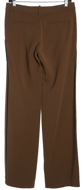 A.L.C. Brown Black Trim Wide Leg Trousers Pants