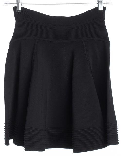 A.L.C. Black Flare Mini Skirt