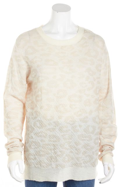 A.L.C. Ivory Abstract Crewneck Long Sleeve Top