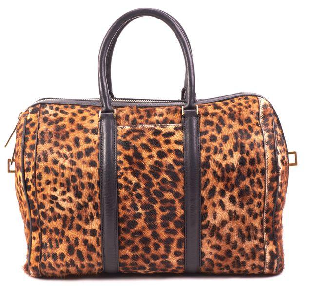 A.L.C. Black Cheetah Print Handbag