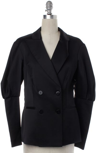 ALBERTA FERRETTI Black Double Breasted Tuxedo Blazer