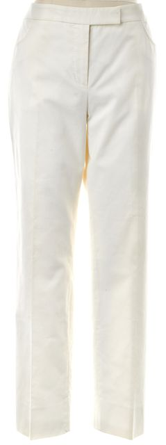 ALEXANDER MCQUEEN Ivory Cotton Trousers Pants