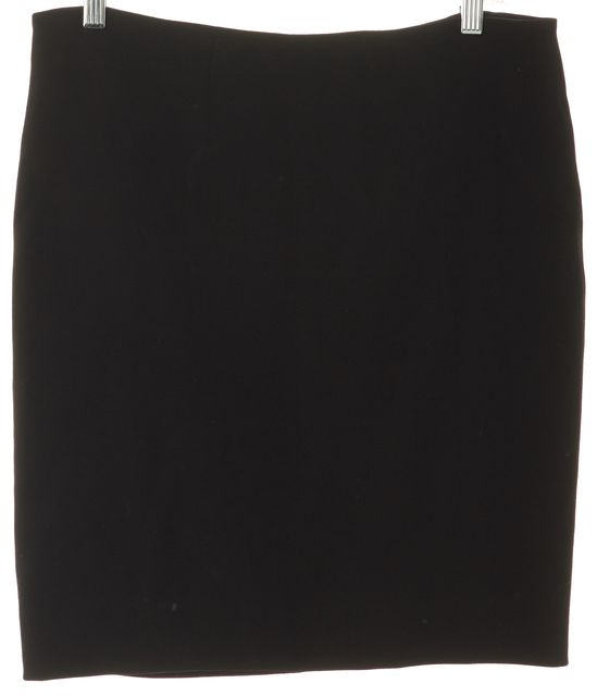 ALEXANDER MCQUEEN Black Wool Above Knee Straight Skirt