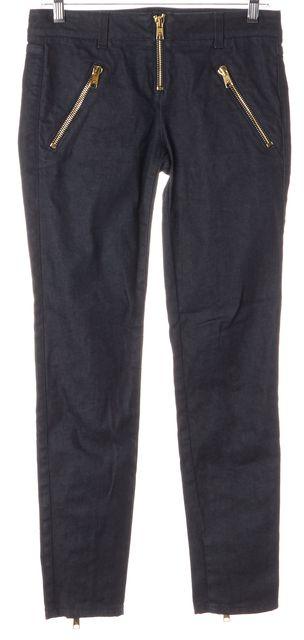 ALEXANDER MCQUEEN Dark Blue Ankle Zip Skinny Jeans