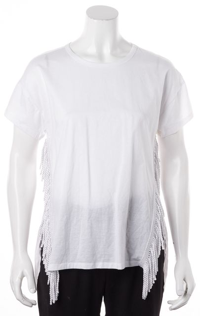 ALICE MCCALL White Fringe Detail Tunic Top