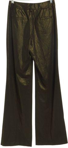 ALICE + OLIVIA Bronze Wide Leg Trousers Pants