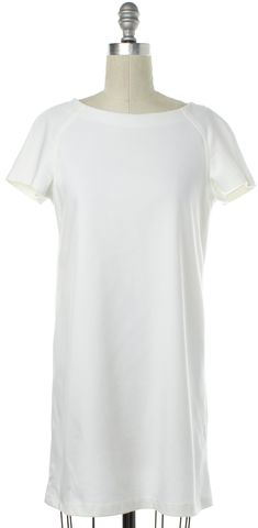 ALICE + OLIVIA White Short Sleeve Shift Dress