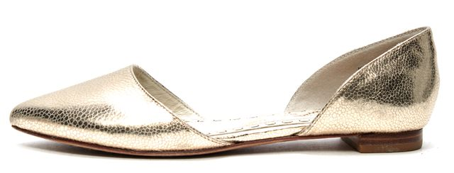 ALICE + OLIVIA Gold Leather d'Orsay Flats