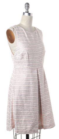 ALICE + OLIVIA Metallic Pink Striped Sleeveless Fit Flare Dress