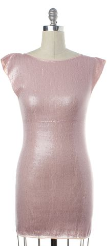 ALICE + OLIVIA Pink Sequin Sheath Dress Size S
