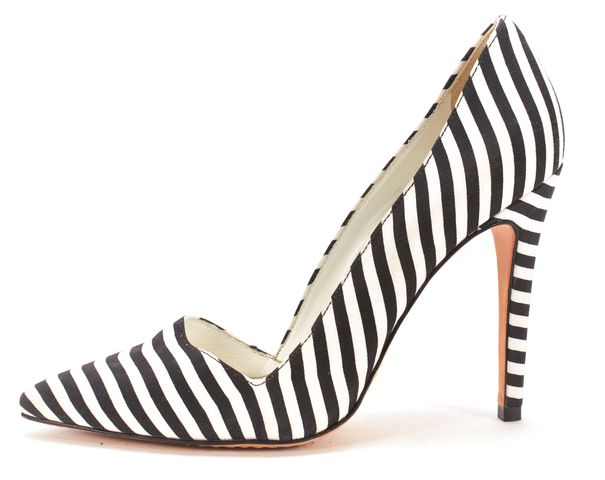 ALICE + OLIVIA Black White Stripe