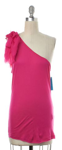ALICE + OLIVIA NWT Pink One Shoulder Top Size L
