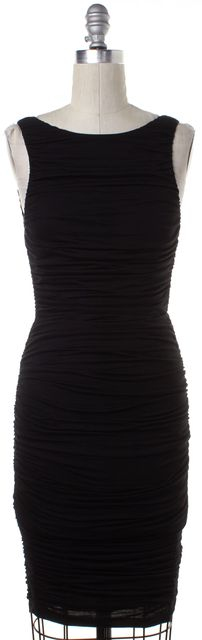ALICE + OLIVIA Black Low Back Stretch Dress