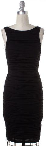 ALICE + OLIVIA Black Low Back Stretch Dress