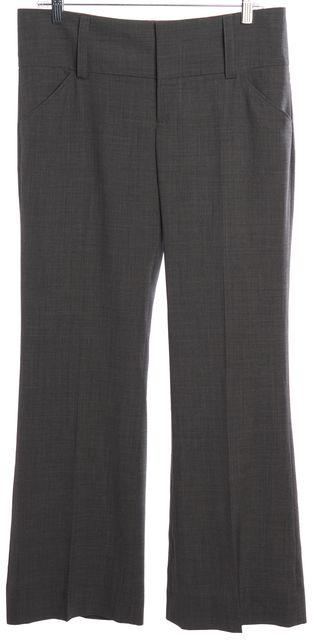 ALICE + OLIVIA Gray Wool Wide Leg Dress Pants
