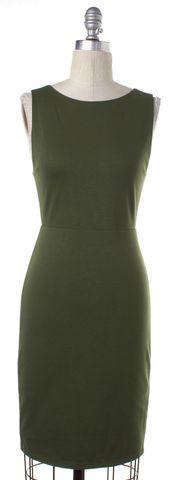 ALICE + OLIVIA Olive Green Open Back Sheath Dress