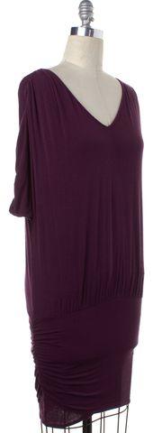 ALICE + OLIVIA Purple Tie Neck Open Back Shift Dress