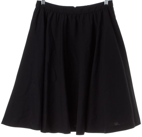 ALICE + OLIVIA Black Wool A-Line Skirt
