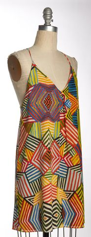 ALICE + OLIVIA Multi-Color Geometric Silk Shift Dress