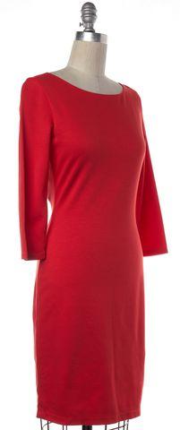 ALICE + OLIVIA Poppy Red Open Back Sheath Dress