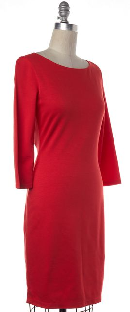 ALICE + OLIVIA Poppy Red Open Back Sheath Dress