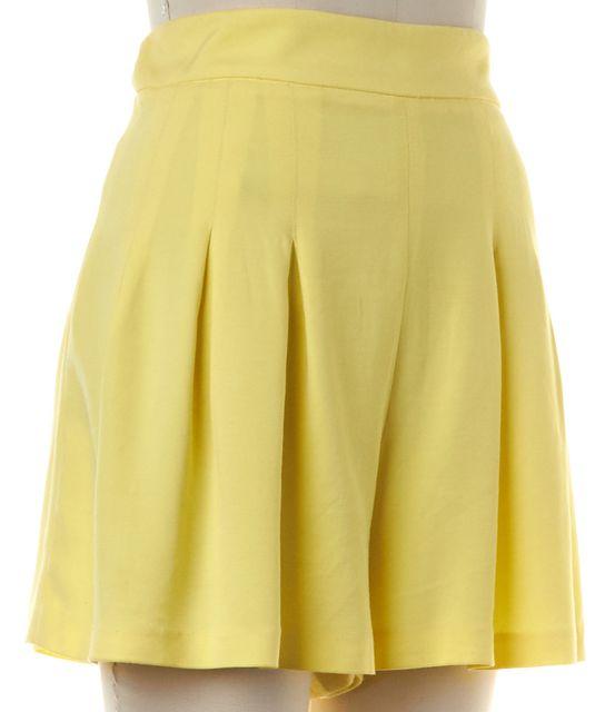 ALICE + OLIVIA Yellow Pleated Casual Shorts