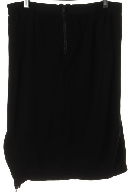 ALICE + OLIVIA Black Straight Pencil Stretch Knit Above Knee Skirt