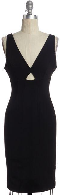 ALICE + OLIVIA Black Cutout Sleeveless Bodycon Dress