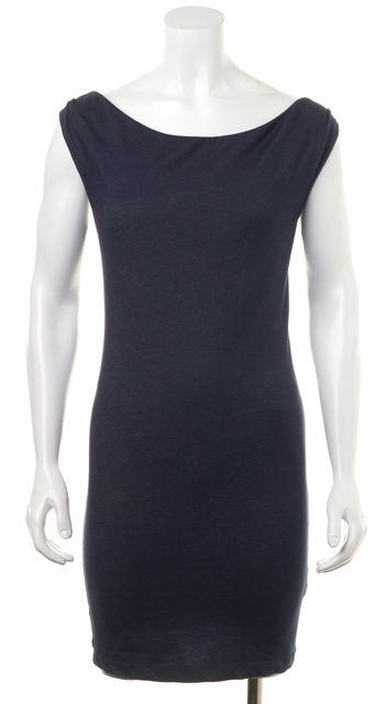 ALICE + OLIVIA Blue Emilia Cap Sleeve Fitted Sheath Dress